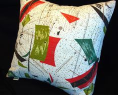 SALE  Vintage Retro Barkcloth Pillow Cover  by atomiclivinhome, $68.00