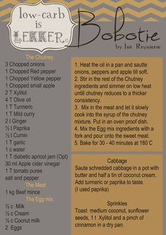 Low Carb is Lekker - Bobotie Recipe