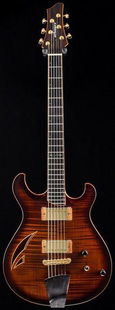"""Matt Artinger """"Terra"""" semi-hollow Guitar --- https://www.pinterest.com/lardyfatboy/"""