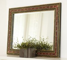 Alizah Painted Mirror #potterybarn  OMG of course its on sale.....now if I just had endless funds.