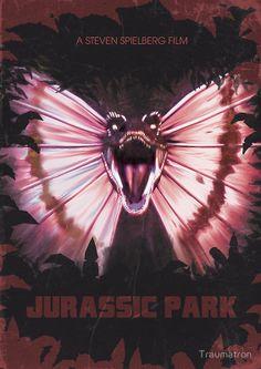 Jurassic park alt movie poster by traumatron Michael Crichton, Jurassic Park Series, Jurassic Park World, Science Fiction, Jurrassic Park, Thriller, Jurassic World Dinosaurs, Jurassic Movies, The Lost World