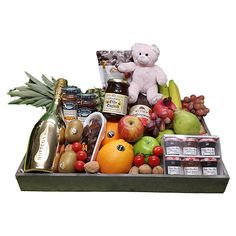 Quality Fruit Baskets. Fruitschaal luxe geboorte meisje