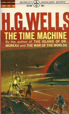 The Time Machine - Nam Leo. Science Fiction Books, Pulp Fiction, Caricatures, Cyberpunk, Classic Sci Fi Books, Book Cover Art, Book Covers, Book Art, Sci Fi Novels