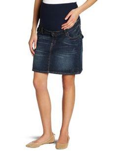 Ripe Maternity Women's Lite Denim Short Skirt, Blue Denim, X-Small