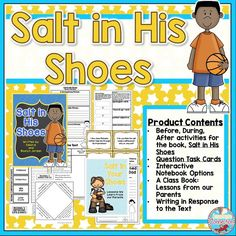 Did you know Michael Jordan was small as a kid? He had to work hard on skills to be the basketball player he became, and Salt in His Shoes is a great book to show how persistence pays off. This print and go unit includes vocabulary, comprehension materials (sequencing, questioning, text evidence, beginning, middle end), and several writing options. Check it out for Black History Month or any time of year.