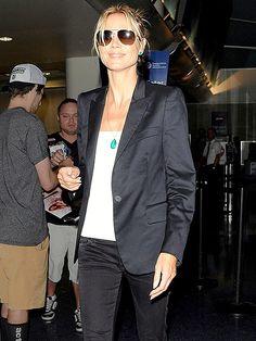Heidi Klum airport style