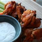 Buffalo Chicken Wings (baked but still crisp on the outside)... they are delicious, I made them for Superbowl Sunday. :)