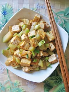 Pan-frying the tofu prior to stir-frying imparts hint of smokiness and gives this simple Spicy Tofu Stir-Fry dish more depth in flavors Tofu Stir Fry, Stir Fry Dishes, Tofu Dishes, Diet Recipes, Vegetarian Recipes, Healthy Recipes, Yummy Recipes, Plant Based Diet, Plant Based Recipes