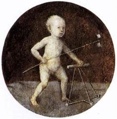 Christ Child with a Walking Frame - Hieronymus Bosch