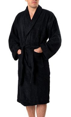8e13ef8cb1 Most Popular High Quality Black Cotton Men Bathrobe