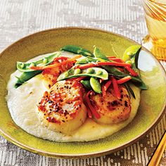 Seared Scallops and Cauliflower Puree.  SO many great recipes on Cooking Light's site.