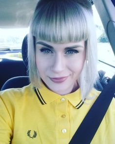 Chelsea Cut, Polo Shirt Girl, Skinhead Girl, Blonde Dye, Fred Perry, Shirts For Girls, Hair Cuts, My Style