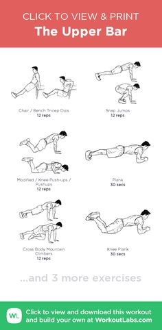 The Upper Bar | Posted By: AdvancedWeightLossTips.com Total Gym Workouts, Fun Workouts, At Home Workouts, Core Workouts, Workout Routines, Workout Plans, Fitness Workouts, Home Workout Men, Bar Workout