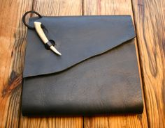 Large Refillable Artists Antler Leather Watercolor Journal with Coptic Stitched 96 page book inside