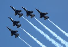 """Seymour Johnson Air Force Base is scheduled to hold the Wings Over Wayne Airshow, featuring the U.S. Air Force Thunderbirds, May 16-17, 2015. """"This open house and airshow will be one of the biggest events North Carolina will experience in 2015,"""" said Col. Mark Slocum, 4th FW commander. """"We'll have a world-class line-up of performers in the skies over Wayne County, demonstrating the awesome firepower our Air Force is known to deliver."""" Photo courtesy of Brad Austin Butler…"""