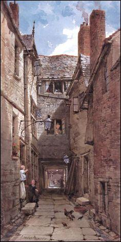 Louise Rayner Chester - The Dark Row, Eastgate Street