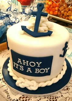 Ahoy Itu0027s A Boy! #nauticalthemed #mutyaskitchen #chocolateganache · Nautical  Theme Baby ShowerNautical CakeBaby ...
