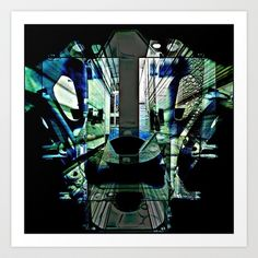 INTOTHEMASK Art Print by lucborell - $24.50