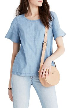 Main Image - Madewell Chambray Tie Back Top