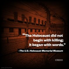 """Museum Condemns White Nationalist Conference Rhetoric  [IMAGE: """"The Holocaust did not begin with killing; it began with words."""" - The U.S. Holocaust Memorial Museum.] The United States Holocaust Memorial Museum is deeply alarmed at the hateful..."""