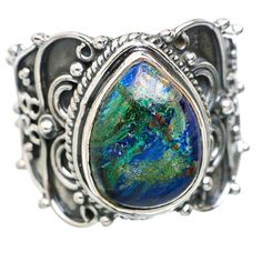 Ana Silver Co Azurite 925 Sterling Silver Ring Size 7.75 RING835469 *** Read more  at the image link. (This is an affiliate link and I receive a commission for the sales)