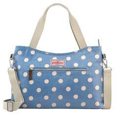 Button Spot Zipped Handbag With Detachable Strap   Cath Kidston  