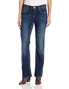 Unionbay Womens Lauren Surround Stitch 5 Pkt True Bootcut Jean Moonbeam 14 ** To view further for this item, visit the image link. (Note:Amazon affiliate link) #Jeans