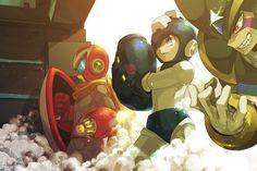 Megaman, Protoman and Bass