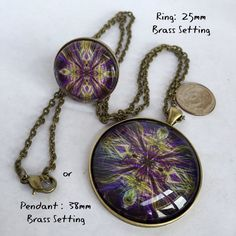 Purple Electricity pendant necklace OR by LittleShopOfFrill