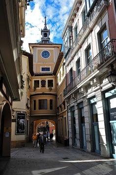 Oviedo, Spain - to the left is the best turron shop in the region!