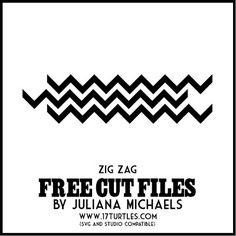 17turtles: Zig Zag Free Cut File and Die Cut Title Tutorial