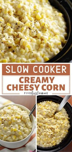 Slow Cooker Creamy Cheesy Corn is a perfect addition to your Easter dinner menu! This recipe is a crowd-pleaser at get-togethers with its creamy, cheesy, corn goodness. A delectable accompaniment to y Easter Side Dishes, Dinner Side Dishes, Side Dishes Easy, Side Dish Recipes, Easy Dinner Recipes, Sides For Easter Dinner, Easter Dinner Menu, Barbeque Side Dishes, Crockpot Side Dishes