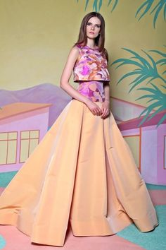 Check out the whole Christian Siriano Resort 2016 Collection by clicking through the gallery. Photos: Courtesy of Christian Siriano Christian Siriano, Runway Fashion, Fashion Show, Fashion Design, Tropical Fashion, Floral Fashion, Only Shirt, Catwalks, Beautiful Gowns