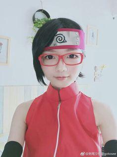 Sarada Cosplay, Anime Cosplay, Sarada Uchiha, Naruto Girls, Costume, Art, Fashion, Art Background, Moda