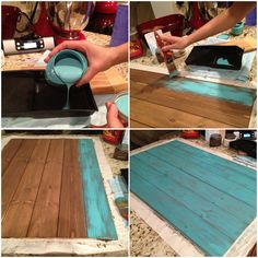 Homemade photo board... gonna have to try this!  last coat by Runningtothekitchen, via Flickr