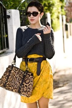 """colours, accessories and different materials makes an outfit """"pop""""."""