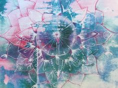 Art Print. 'Ethereal Mandala'. Abstract Art. Mandala. Boho print.