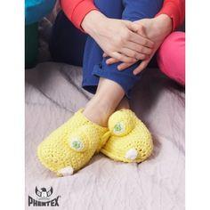 Yellow Monster Slippers free crochet pattern
