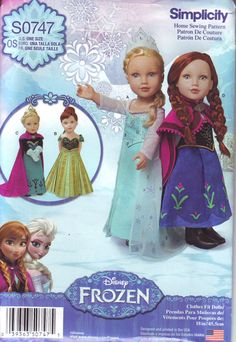 American Girl Size Disney Frozen Dresses for  by DelightfulDolly