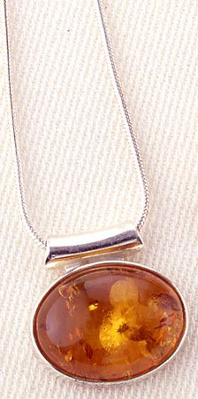 Oval Amber Necklace, Necklaces, Jewelry - The Museum Shop of The Art Institute of Chicago