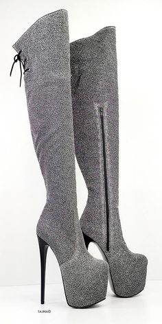 Knee High Platform Boots, Thigh High Boots, High Heel Boots, Over The Knee Boots, Heeled Boots, Bootie Boots, Shoe Boots, Extreme High Heels, Lace Up High Heels