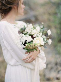 Outdoor elopement at Smith Rock by Amanda Lenhardt Photography | Wedding Sparrow