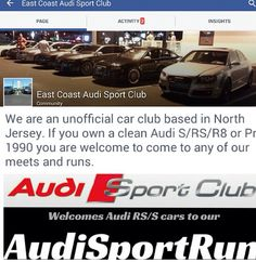 "Attention: If you own a CLEAN Audi Sport Car (S/RS/R8) ONLY, and would like to be considered for a personal invite to East Coast Audi Sport Club next run near #NYC email your Name, Cell Phone #, IG Name, and pic of your car to nbachkhaz@gmail.com No ""A"" cars, sorry. Follow them on Facebook (link in @biturbodeuce profile) for inside info.  #AudiSportClub #TTS #S3 #S4 #S5 #S6 #S7 #S8 #RS3 #TTRS #RS4 #RS5 #RS6 #RS7 #R8 #Audi #ADVI #GoAPR #Dubs #truthinengineering #BBS #Bags #Audisportrun"