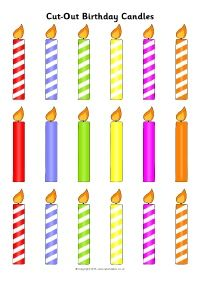 How Old Are You? Birthday Cake Candles Cut-and-Stick Activity (SB11407) - SparkleBox