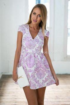 *Gold Foil Dress (Purple)