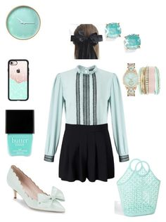 """""""Doublemint"""" by scope-stilettos ❤ liked on Polyvore featuring Miss Selfridge, Butter London, Kate Spade, Casetify and Jessica Carlyle"""