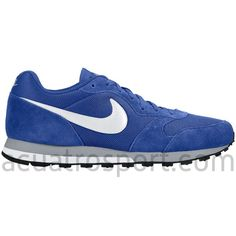 size 40 9669b 6441a Zapatillas Moda Retro Running Nike MD Runner en colores azul, gris y blanco  para hombre