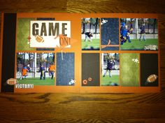 CTMH layout Lucky paper and Game On stamp set