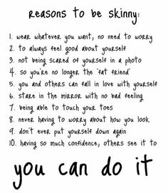 I believe all these in my weight loss journey but I don't want to be skinny... I want to be healthy