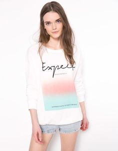 Bershka United Kingdom - Bershka text sweatshirt